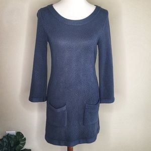 Boden  Gray Cotton Sweater Knit Dress w/ Pockets 4